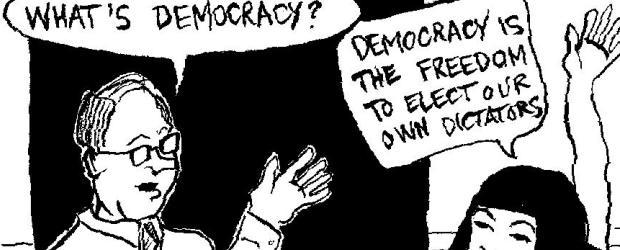 ironi demokrasi