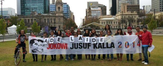 Acara deklarasi Sahabat Jokowi di Adelaide, Australia Selatan, Minggu (15/6/2014)