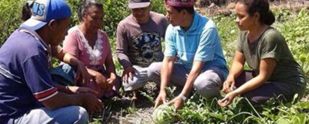 Viktor Slamet, calon bupati Manggarai dalam salah satu kunjungan ke wilayah Kecamatan Satar Mese