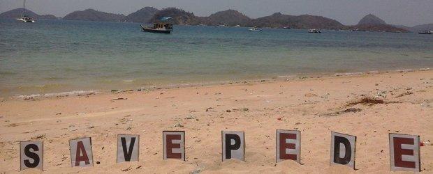 Save Pede, adalah salah satu bentuk kampanye yang dilakukan sejumlah elemen sipil di Mabar, demi mempertahankan pantai itu sebagai ruang publik. (Foto: dok Floresa)