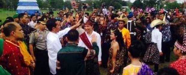 Presiden Jokowi di Kupang NTT