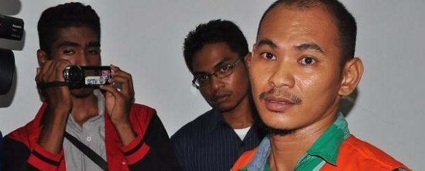 Rudy Soik di Ruangan PN 1A Kupang, NTT, Senin (15/12/2014), (Foto: Kompas.com)